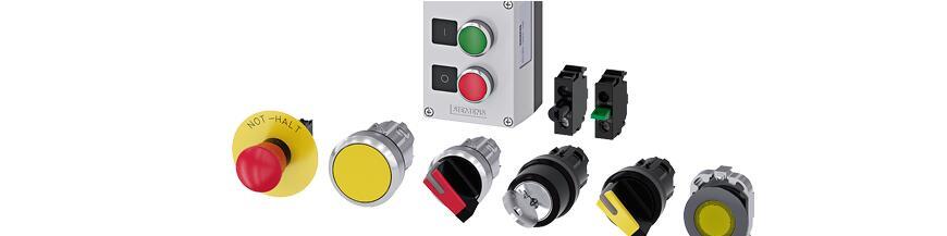 Lampki i przyciski sterownicze